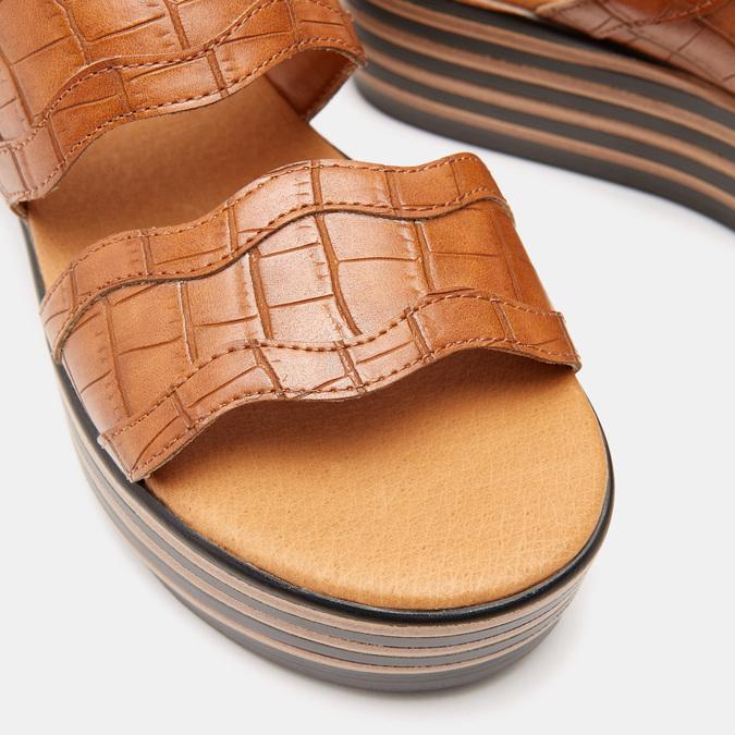 Sandales à plateforme bata, Brun, 761-4886 - 26