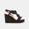 Sandales compensées bata, Noir, 769-6777 - 13