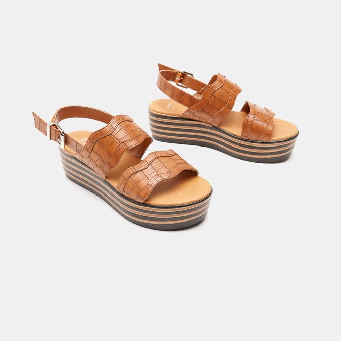 Sandales à plateforme bata, Brun, 761-4886 - 16