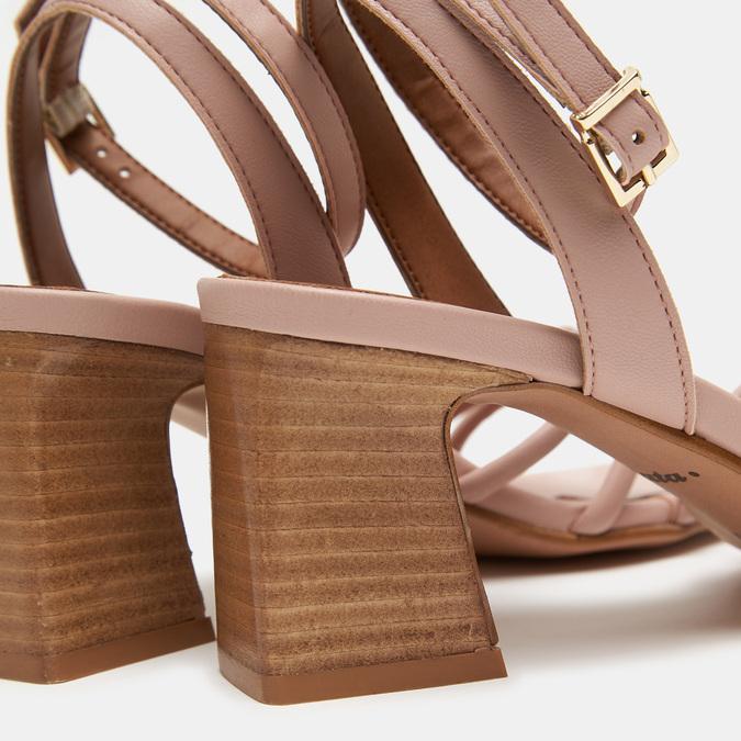 Sandales à demi-talon et à bride autour de la cheville bata, Rouge, 761-5884 - 16