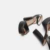Sandales à talon large bata, Noir, 761-6873 - 19