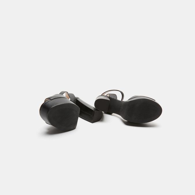 Sandales à talon large bata, Noir, 761-6873 - 17
