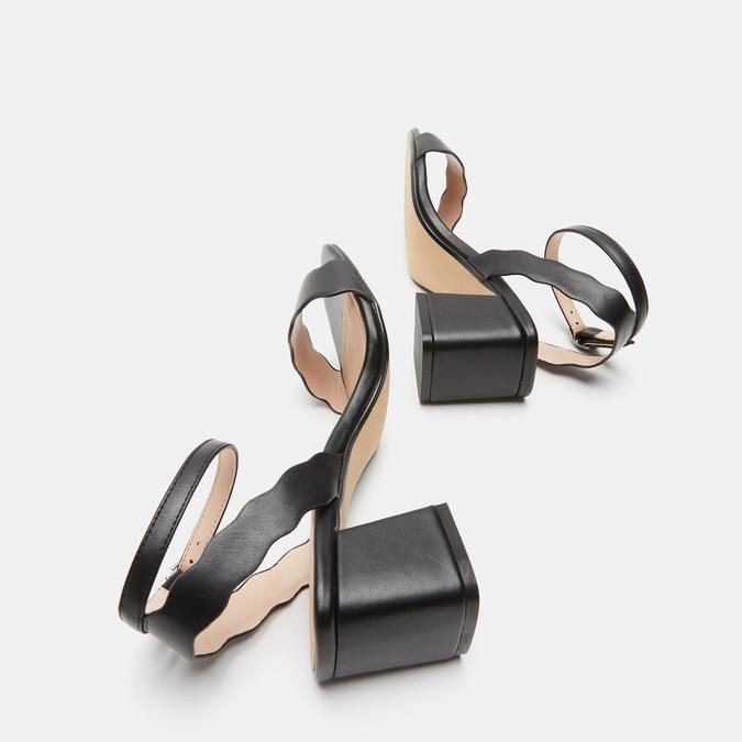 Sandales à talon large bata, Noir, 761-6872 - 19