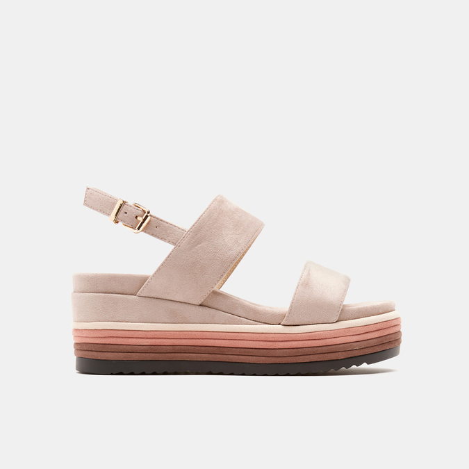Sandales à plateforme bata, Jaune, 769-8885 - 13