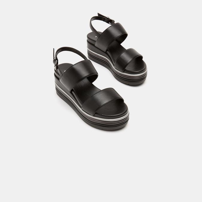 Sandales à plateforme bata, Noir, 761-6885 - 16