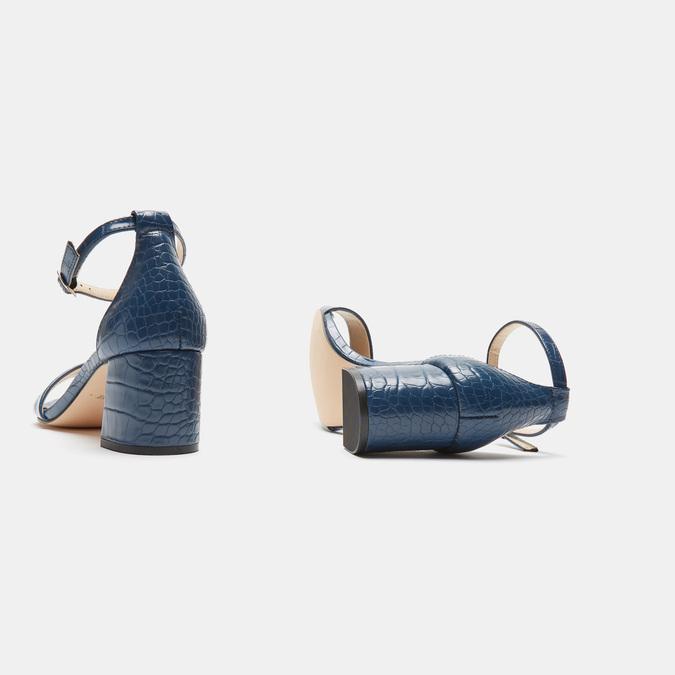 Sandales à talon large bata, Bleu, 761-9863 - 15
