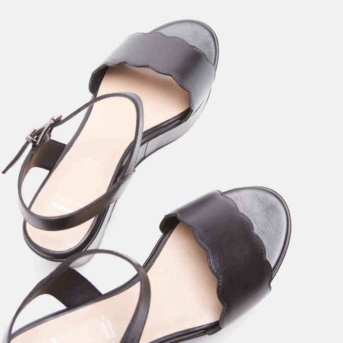 Sandales à plateforme bata, Noir, 764-6882 - 19