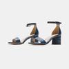 Sandales à talon large bata, Bleu, 761-9863 - 16