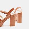 Sandales à talon large et à plateforme bata, Brun, 761-3890 - 15