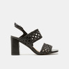 Sandales à talon large bata, Noir, 761-6861 - 13
