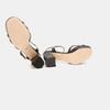 Sandales à demi-talon et à bride autour de la cheville bata-rl, Noir, 761-6852 - 19