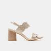 Sandales à talon large bata, bronze, 761-8860 - 13