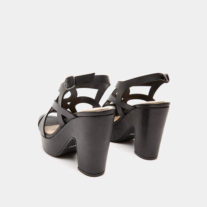 Sandales à talon large bata, Noir, 761-6850 - 15