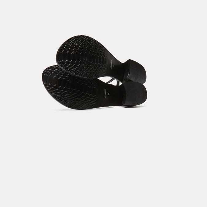 Sandales à demi-talon bata, Noir, 664-6408 - 17