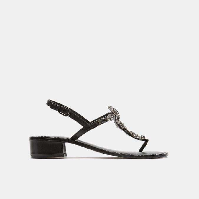 Sandales à demi-talon bata, Noir, 664-6408 - 13