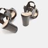 Sandales à talon large bata, Noir, 761-6849 - 15