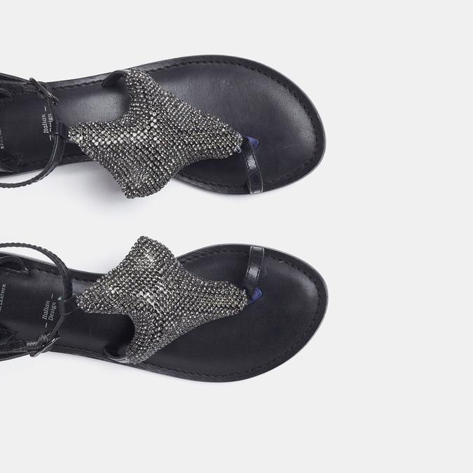 Sandales à bride bata, Noir, 564-6710 - 17