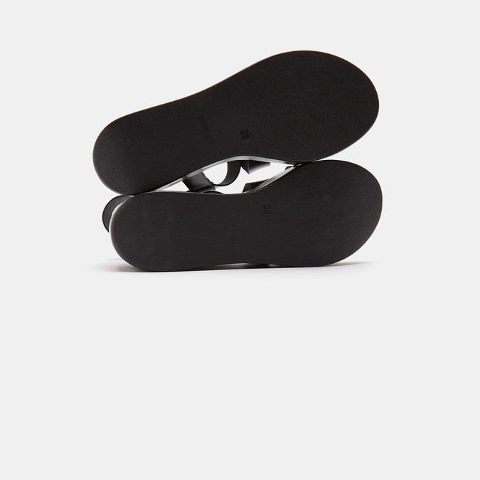 Sandales compensées bata, Noir, 764-6985 - 17