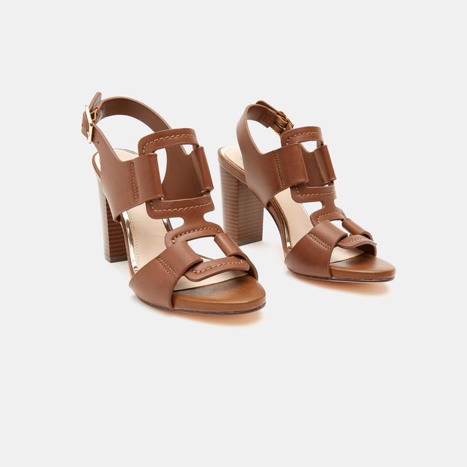 Sandales à talon large bata, Brun, 761-4849 - 16