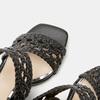 Sandales à talon large bata, Noir, 761-6861 - 16
