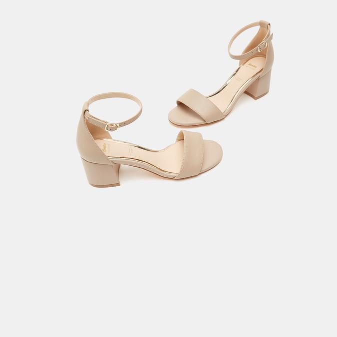 Sandales à talon large bata, Rose, 764-5862 - 16