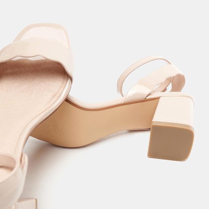 Sandales à talon large bata, Rouge, 761-5872 - 15