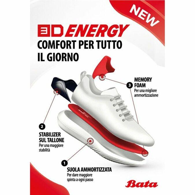 Baskets Slip-on Bata 3D Energy bata-3d-energy, Gris, 849-2991 - 18