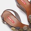 Sandales à plateforme bata-rl, Brun, 764-4990 - 15