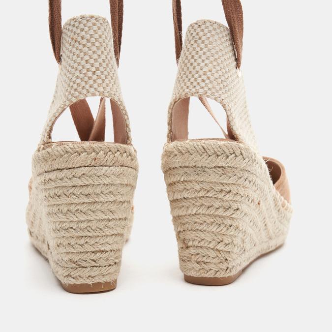 Sandales compensées bata, Brun, 769-3868 - 15