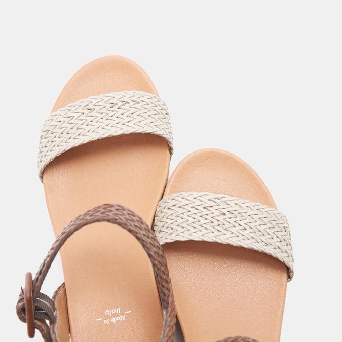 Sandales compensées bata, Blanc, 761-1947 - 19