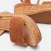 Sandales compensées bata, Brun, 763-4938 - 16