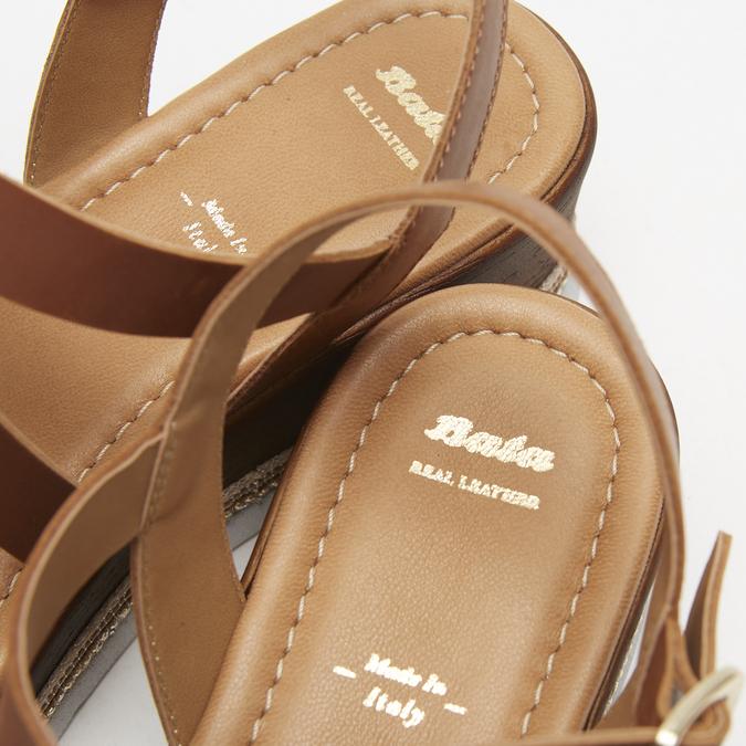 Sandales à plateforme bata, Brun, 764-3941 - 15