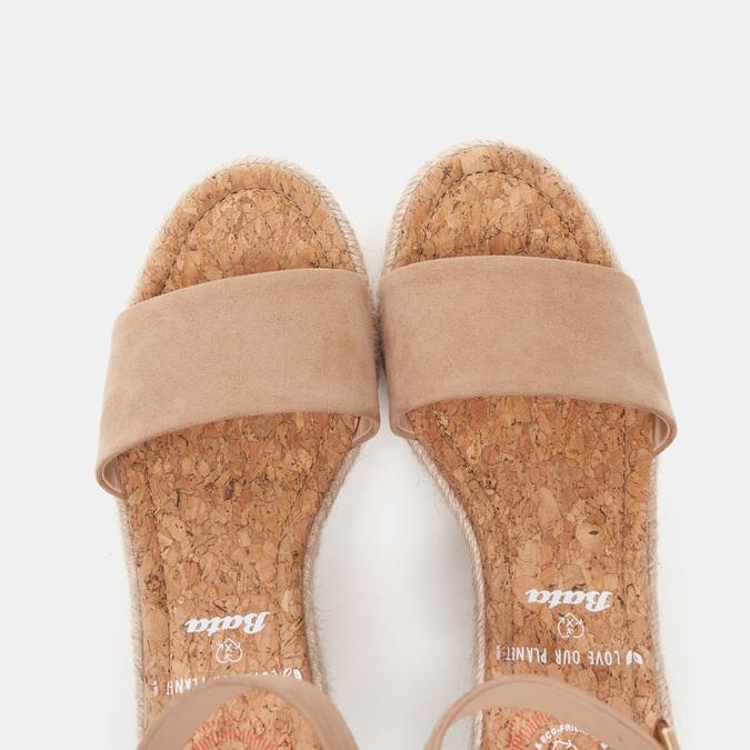 Sandales compensées bata, Beige, 769-8983 - 19