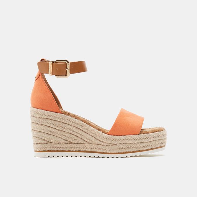 Sandales compensées bata, d'Orange, 769-5983 - 13