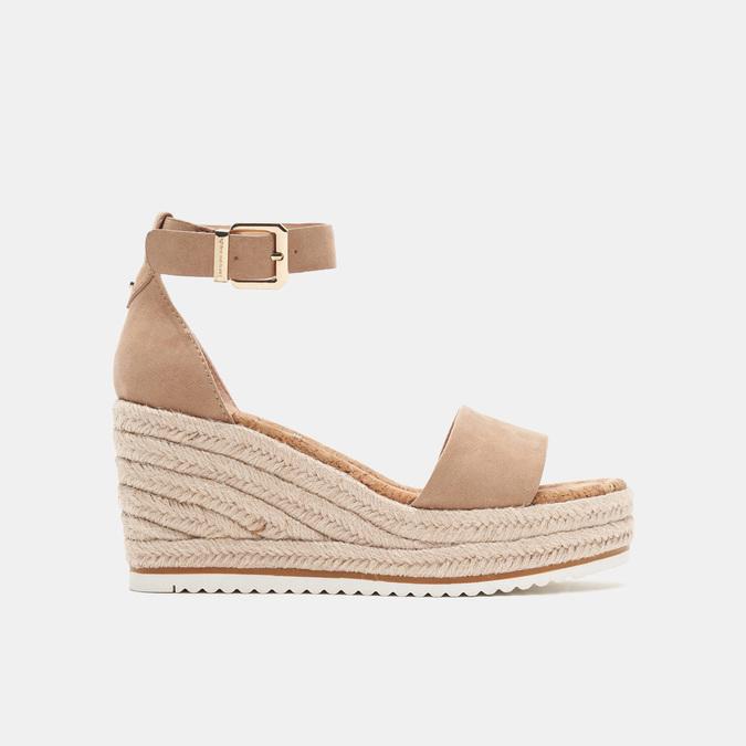 Sandales compensées bata, Beige, 769-8983 - 13