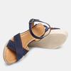 Sandales compensées bata, Bleu, 763-9963 - 19