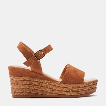 Sandales compensées bata, Brun, 763-4938 - 13