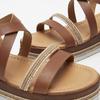 Sandales à plateforme bata, Brun, 764-3941 - 19