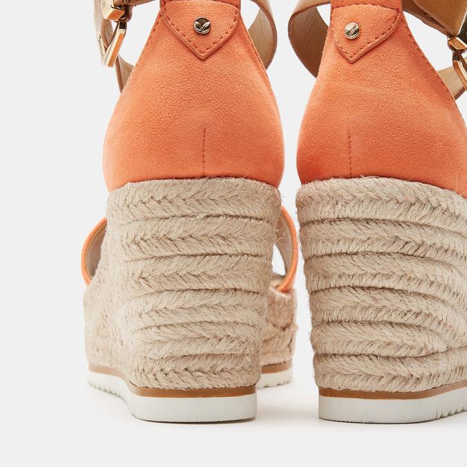 Sandales compensées bata, d'Orange, 769-5983 - 19