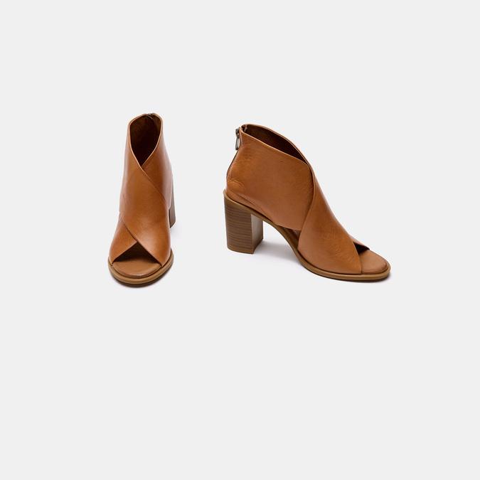 Sandales à talon bata, Brun, 724-3284 - 26