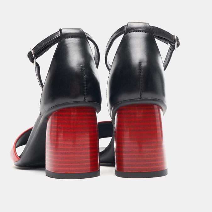 Sandales à talon bata-rl, Rouge, 764-5972 - 17