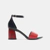 Sandales à talon bata-rl, Rouge, 764-5972 - 13