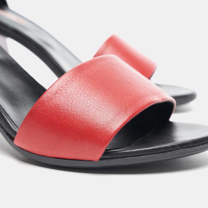 Sandales à talon bata-rl, Rouge, 764-5972 - 16