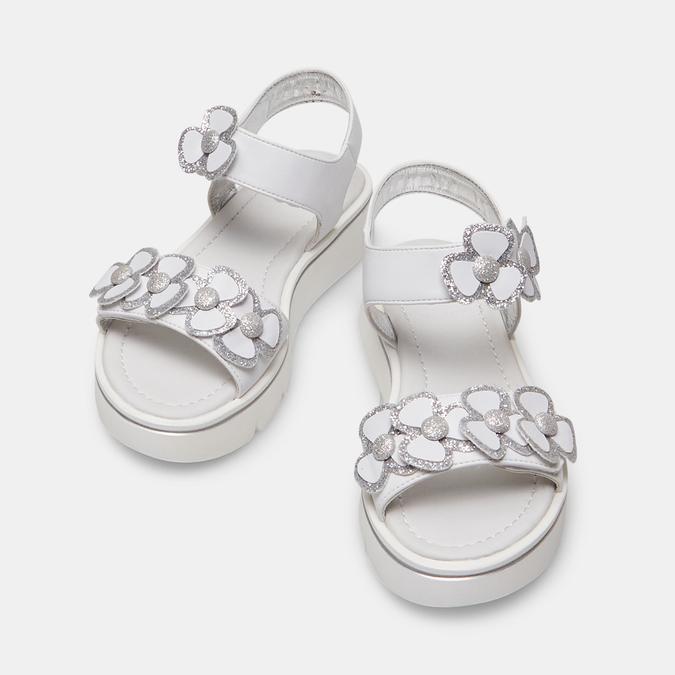 Sandales fille mini-b, Blanc, 361-1411 - 26