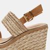 Sandales compensées bata, Beige, 769-8968 - 26