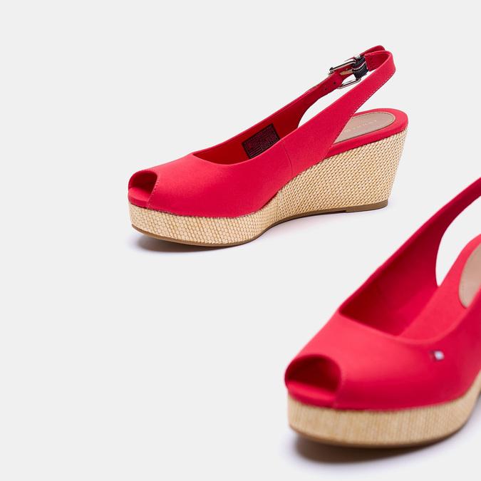 Sandales compensées tommy-hilfiger, Rouge, 669-5189 - 19