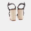 Sandales compensées bata, Noir, 761-6961 - 17