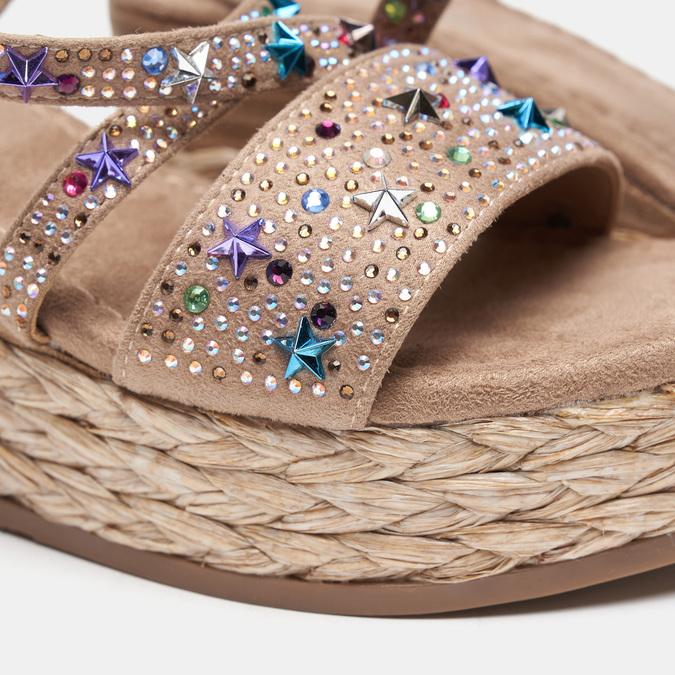 Sandales compensées bata, Jaune, 769-8951 - 16