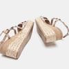 Sandales compensées bata, Jaune, 769-8951 - 19