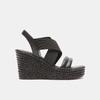 Sandales compensées bata, Noir, 761-6949 - 13